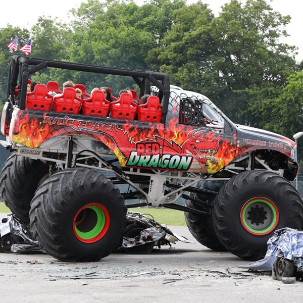 Red Dragon Monster truck rides